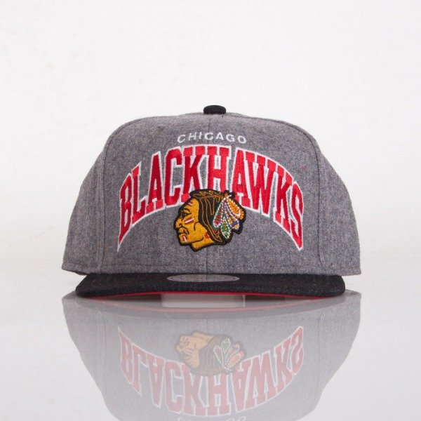 Mitchell & Ness czapka snapback Chicago Blackhawks grey 2Tone Heather EU135
