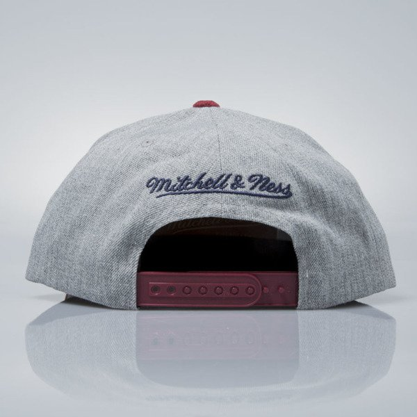 Mitchell & Ness czapka snapback Cleveland Cavaliers grey heather / burgundy VO59Z HEATHER MICRO