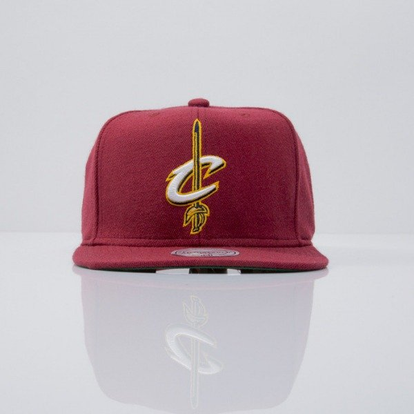 Mitchell & Ness czapka snapback Cleveland Cavaliers maroon  WOOL SOLID NL99Z