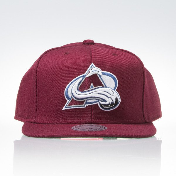 Mitchell & Ness czapka snapback Colorado Avalanche burgundy WOOL SOLID NT81Z