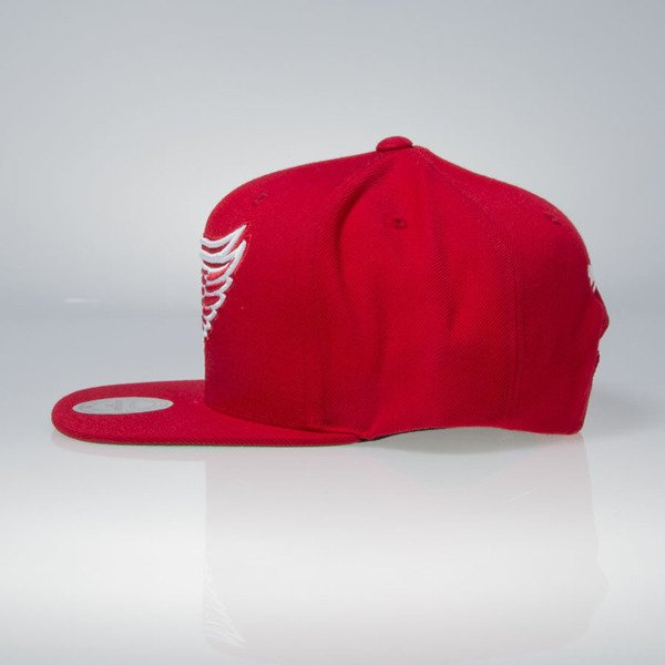 Mitchell & Ness czapka snapback Detoit Red Wings red Wool Solid / Solid 2 NT80Z