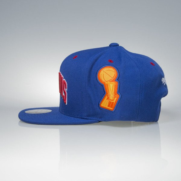 Mitchell & Ness czapka snapback Detroit Pistons royal Bad Boy Era 1988-89 NBA Champions VP03Z