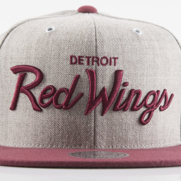 Mitchell & Ness czapka snapback Detroit Red Wings heather grey EU494 Jolt