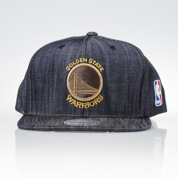 Mitchell & Ness czapka snapback Golden State Warriors DARK DENIM VW46Z