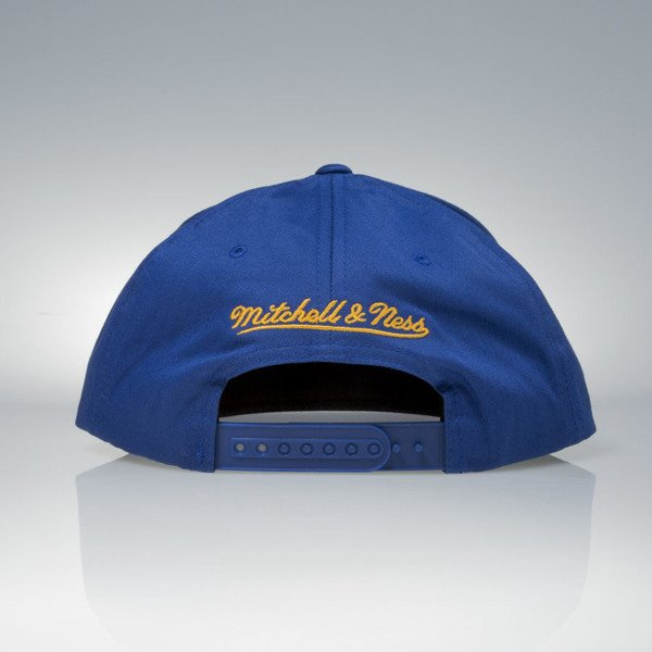 Mitchell & Ness czapka snapback Golden State Warriors white / blue Pacific Stripe Pinch Panel VU86Z