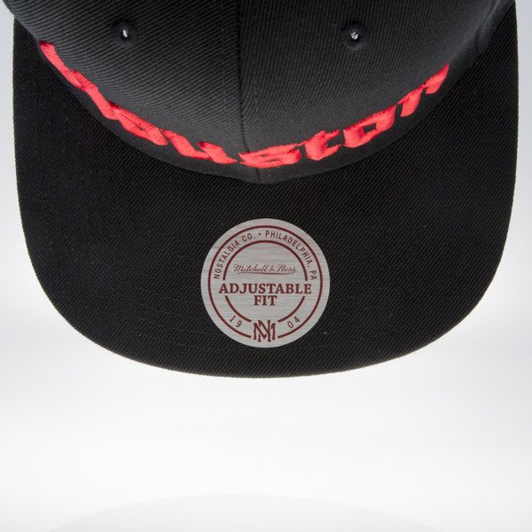 Mitchell & Ness czapka snapback Houston Rockets black GOTHAM CITY VW49Z