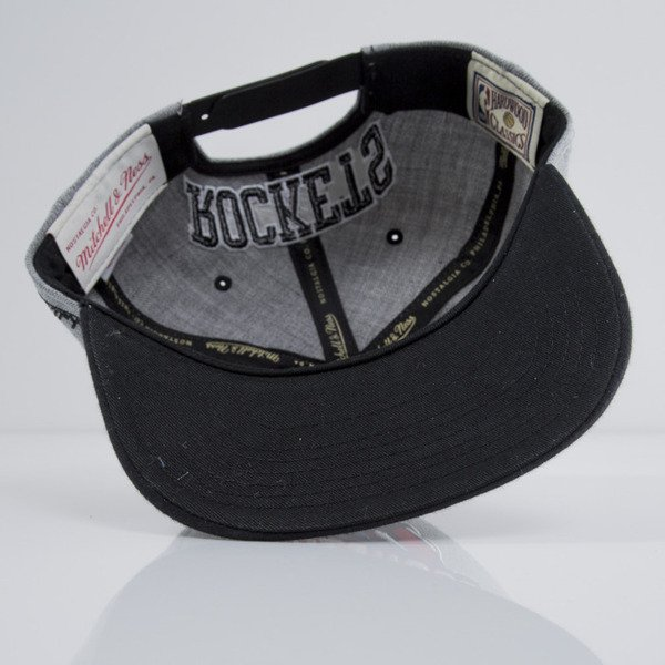Mitchell & Ness czapka snapback Houston Rockets heather grey EU438 BACKBOARD