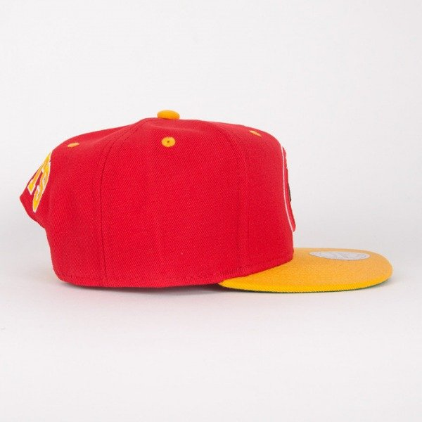 Mitchell & Ness czapka snapback Houston Rockets red / yelow Flipside