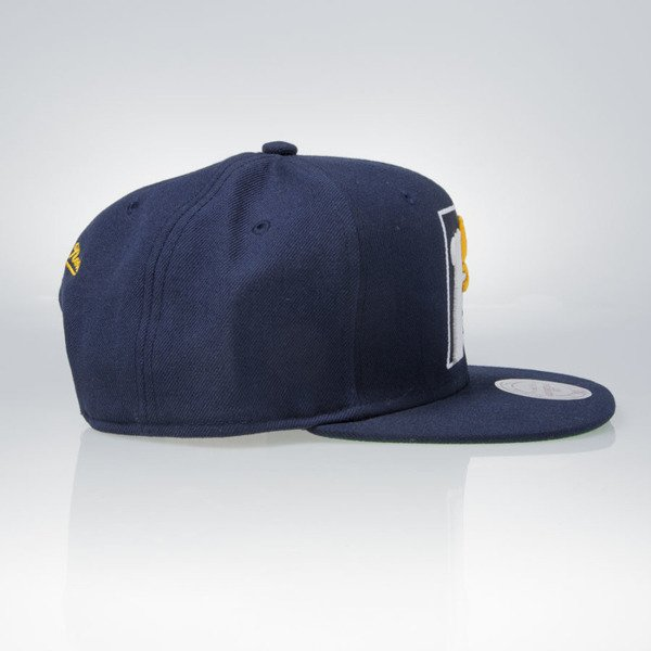 Mitchell & Ness czapka snapback Indiana Pacers navy WOOL SOLID NZ979
