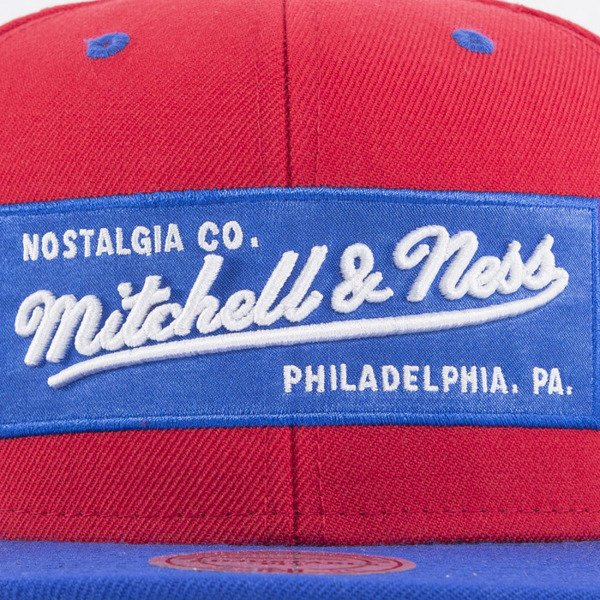 Mitchell & Ness czapka snapback Logo red / royal 2Tone Label NE18Z