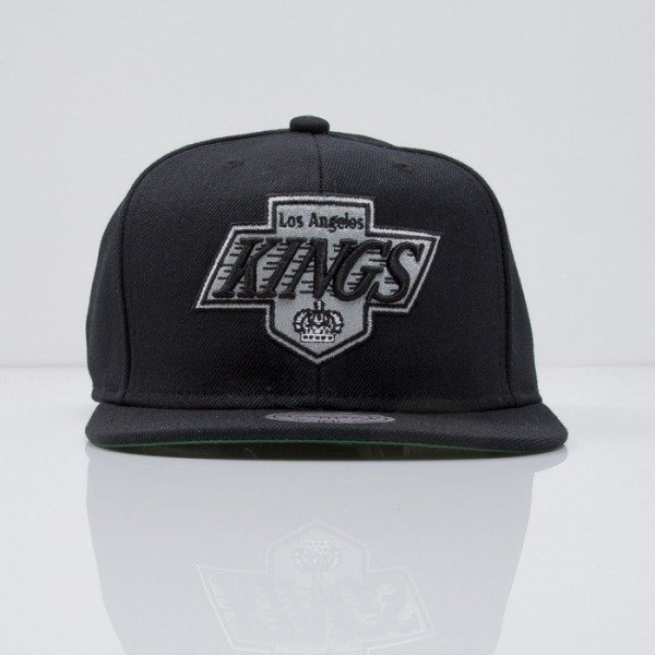 Mitchell & Ness czapka snapback Los Angeles Kings black  WOOL SOLID NZ980