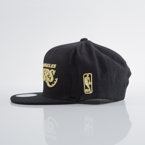 Mitchell & Ness czapka snapback Los Angeles Lakers black EU691 Metallic Logo