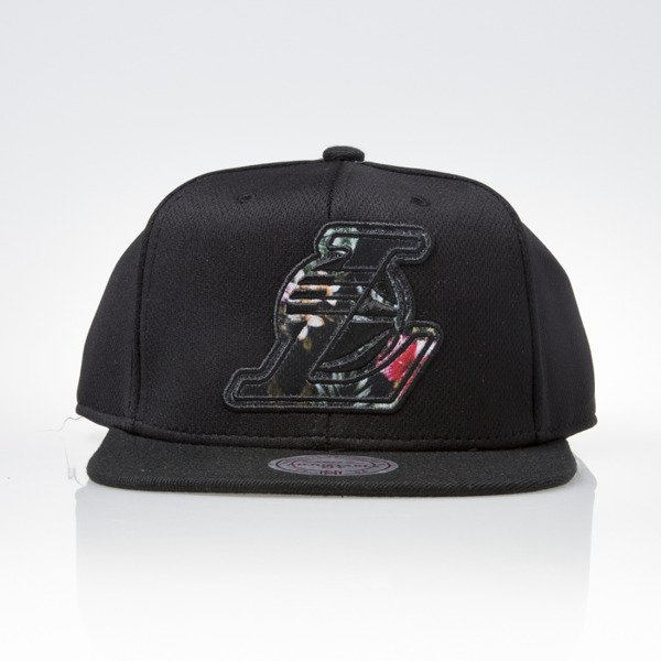 Mitchell & Ness czapka snapback Los Angeles Lakers black FLORAL INFILL EU884