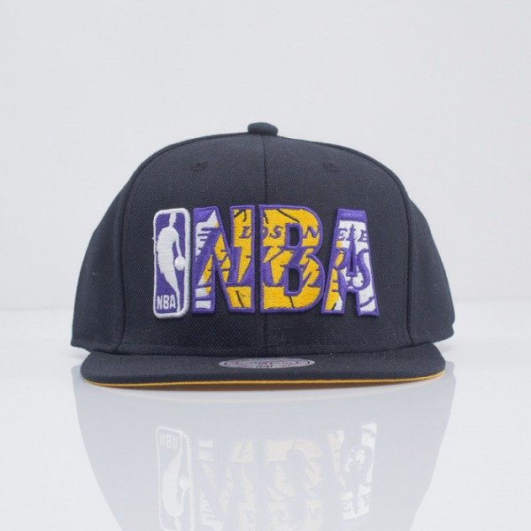 Mitchell & Ness czapka snapback Los Angeles Lakers black Insider VE34Z