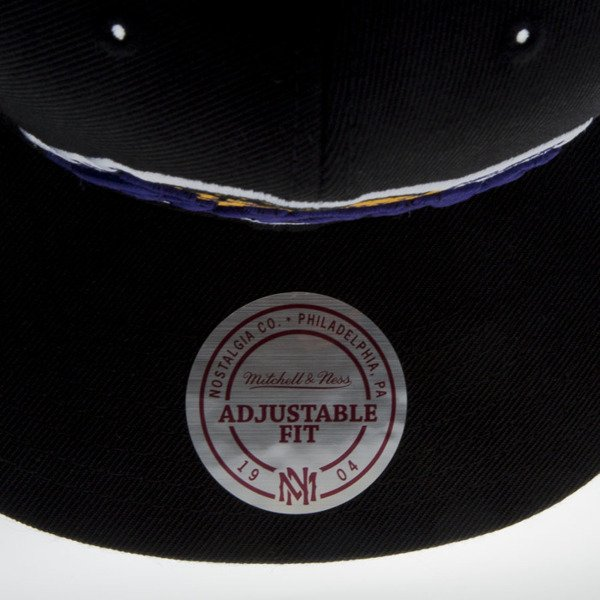 Mitchell & Ness czapka snapback Los Angeles Lakers black Wool Solid / Solid 2 NL99Z