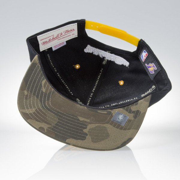 Mitchell & Ness czapka snapback Los Angeles Lakers black / camo Camo Fill VC96Z
