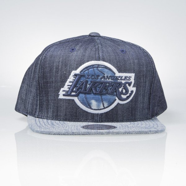 Mitchell & Ness czapka snapback Los Angeles Lakers blue Blue Linen VR14Z