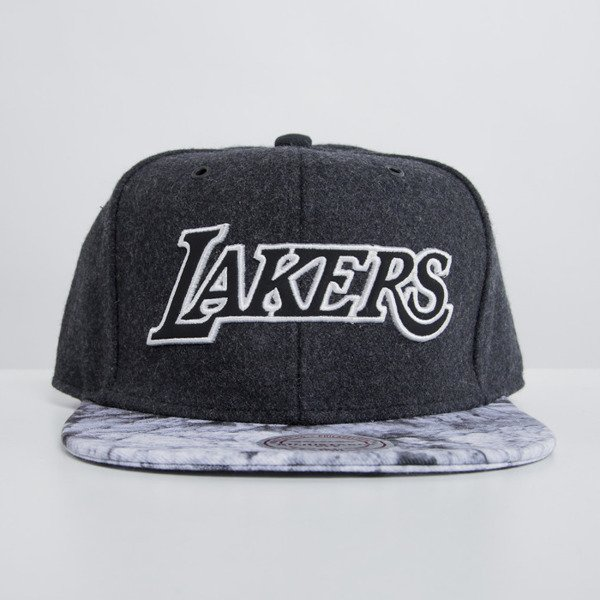 Mitchell & Ness czapka snapback Los Angeles Lakers dark grey Volcano Ash EU697