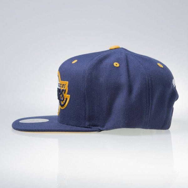 Mitchell & Ness czapka snapback Los Angeles Lakers navy NAVY & YELLOW VX05Z