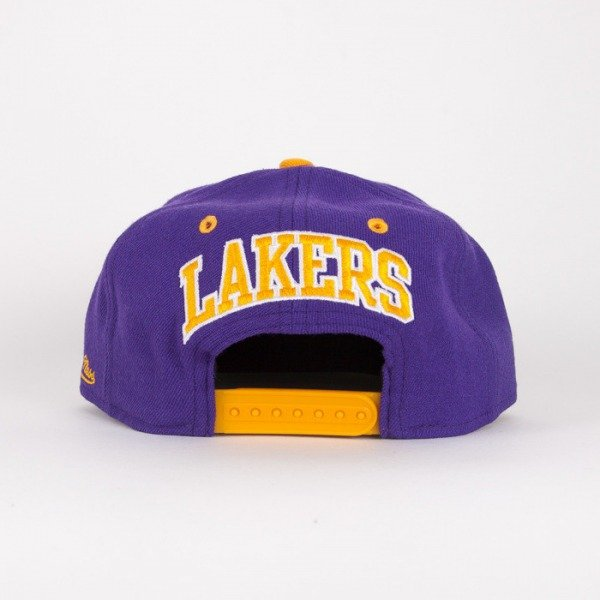 Mitchell & Ness czapka snapback Los Angeles Lakers violet / yelow  Flipside