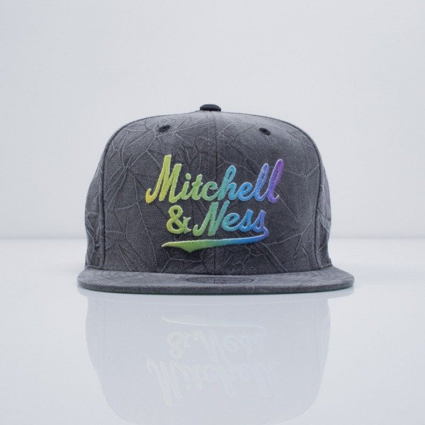Mitchell & Ness czapka snapback M&N Logo charcoal Crease Tringle Script  VE81Z