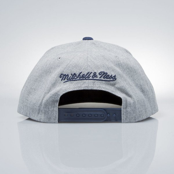 Mitchell & Ness czapka snapback M&N Logo grey heather / navy EU1012 HEATHER MICRO