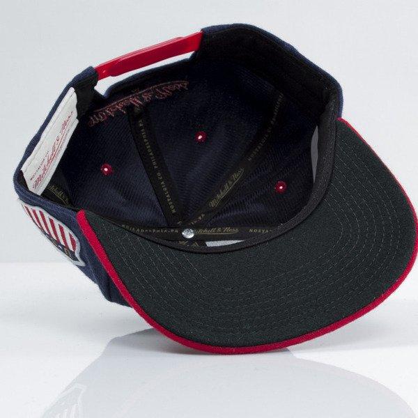 Mitchell & Ness czapka snapback M&N navy / red Retro Melton Wool VF58Z