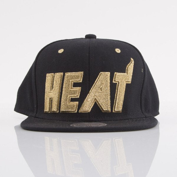 Mitchell & Ness czapka snapback Miami Heat black EU173 TEAM GOLD