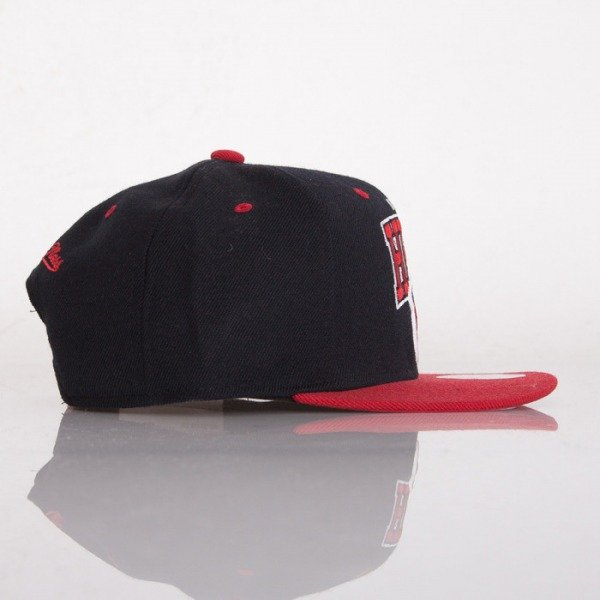 Mitchell & Ness czapka snapback Miami Heat grey black / red Doubleup