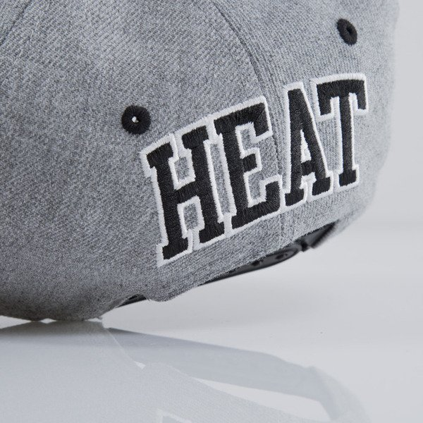 Mitchell & Ness czapka snapback Miami Heat heather grey EU438 BACKBOARD