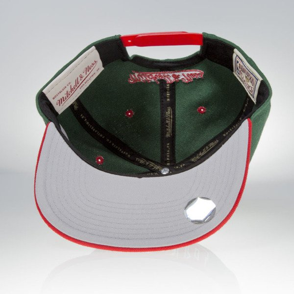 Mitchell & Ness czapka snapback Milwaukee Bucks green TEAM ARCH NA80Z