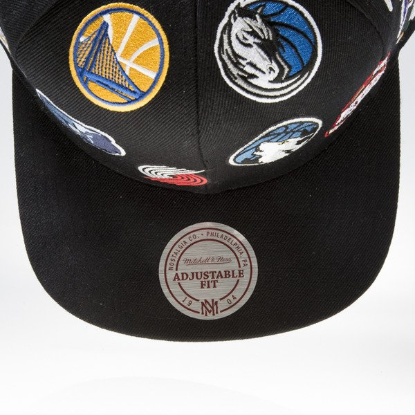 Mitchell & Ness czapka snapback NBA Western black ALL OVER EU879