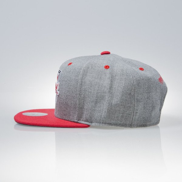 Mitchell & Ness czapka snapback NY Red Bulls grey HEATHER CROWN EU915
