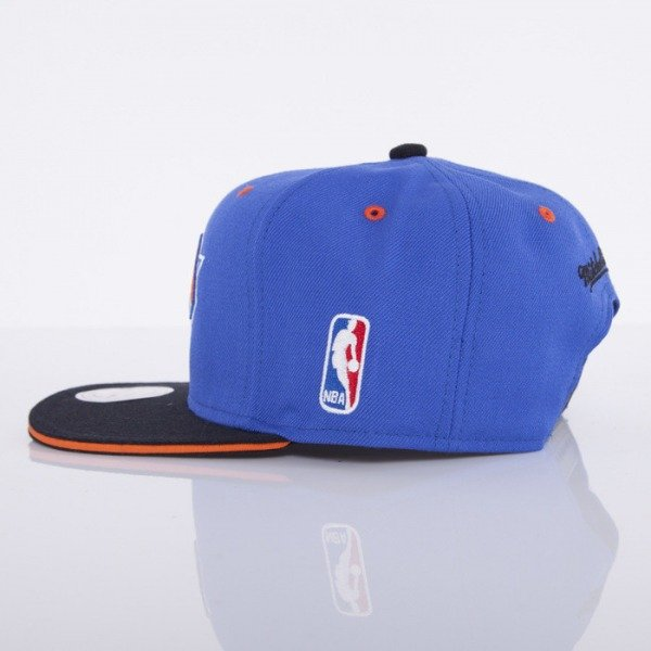 Mitchell & Ness czapka snapback New York Knicks blue Tip Off