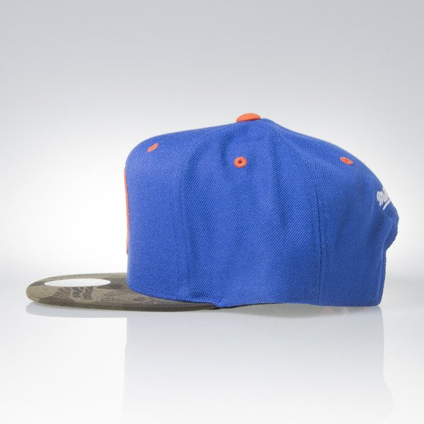 Mitchell & Ness czapka snapback New York Knicks royal / camo Camo Fill VC96Z
