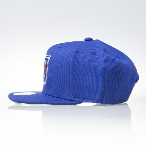 Mitchell & Ness czapka snapback New York Rangers blue WOOL SOLID NZ980