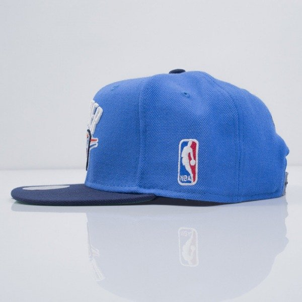 Mitchell & Ness czapka snapback Oklahoma City Thunder blue XL Logo 2Tone NM04Z