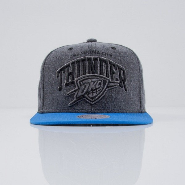 Mitchell & Ness czapka snapback Oklahoma City Thunder dark grey Boardwalk EU443