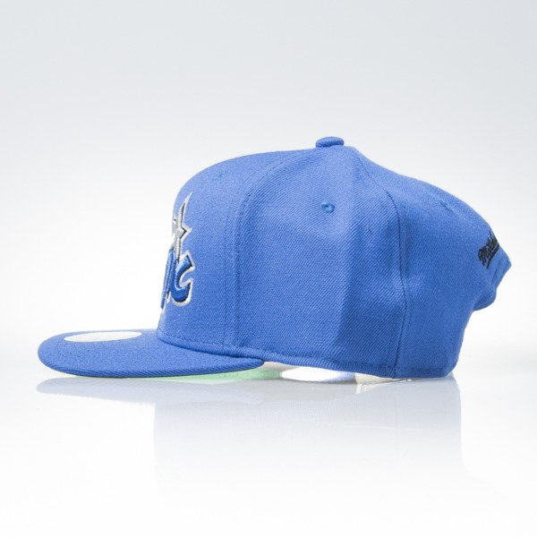Mitchell & Ness czapka snapback Orlando Magic blue WOOL SOLID NZ979