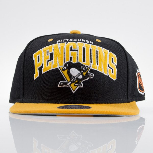 Mitchell & Ness czapka snapback Pittsburgh Penguins black ND12Z TEAM ARCH