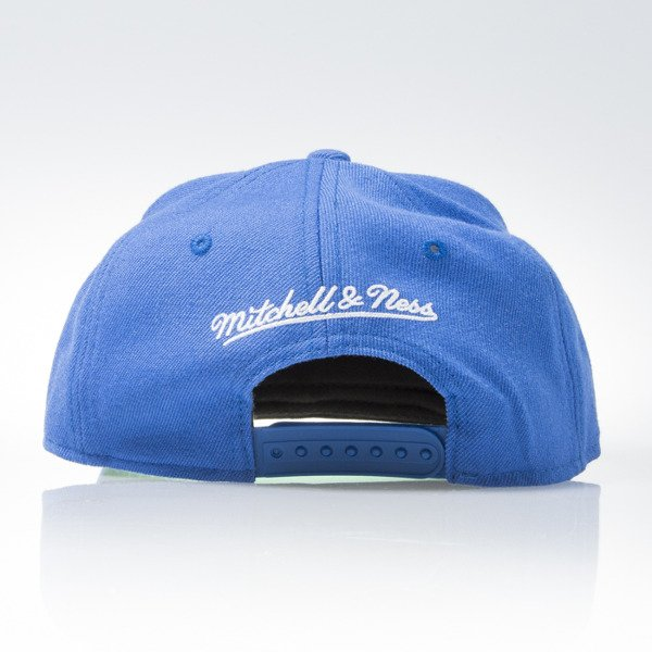 Mitchell & Ness czapka snapback Quebec Nordiques blue WOOL SOLID NZ980
