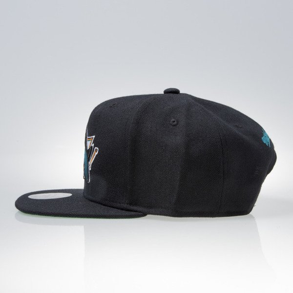 Mitchell & Ness czapka snapback San Jose Sharks black WOOL SOLID NT80Z