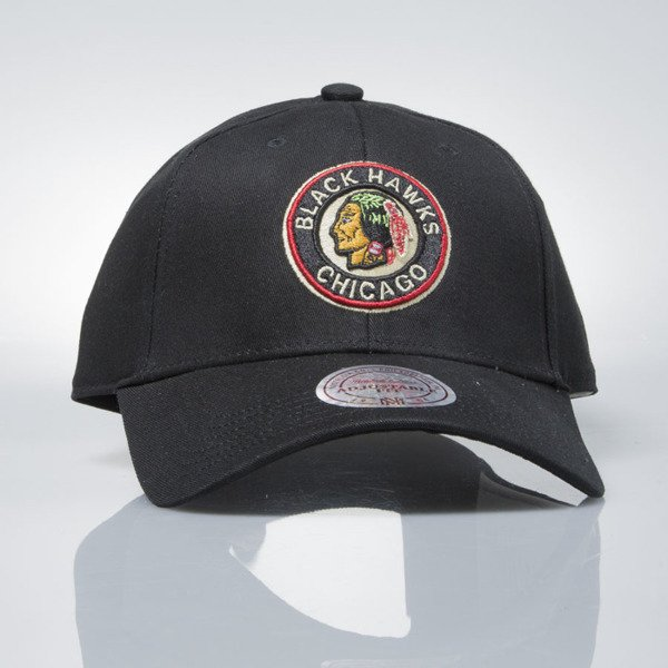 Mitchell & Ness czapka strapback Chicago Blackhawks black EU1053 LOW PRO