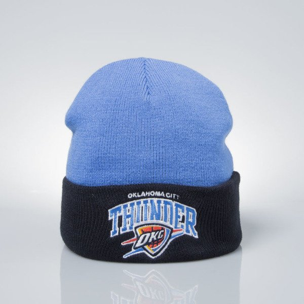 Mitchell & Ness czapka zimowa Oklahoma City Thunder blue / navy EU349 ARCHED CUFF KNIT