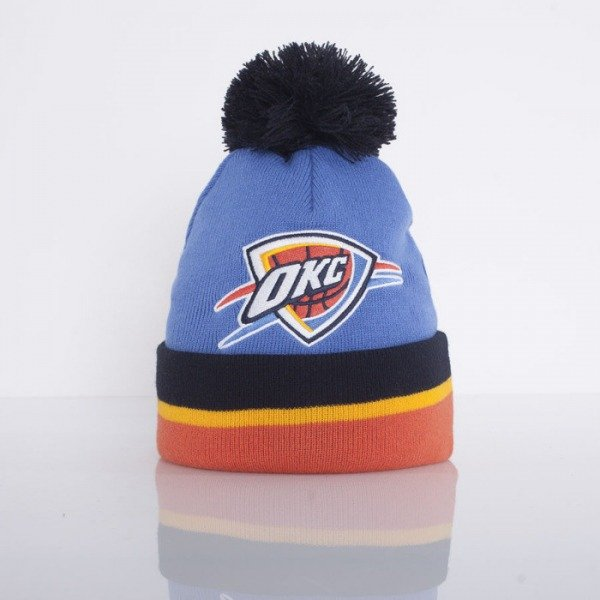 Mitchell & Ness czapka zimowa Oklahoma City Thunder blue / navy / yellow / orange Jersey Stripe KJ61Z