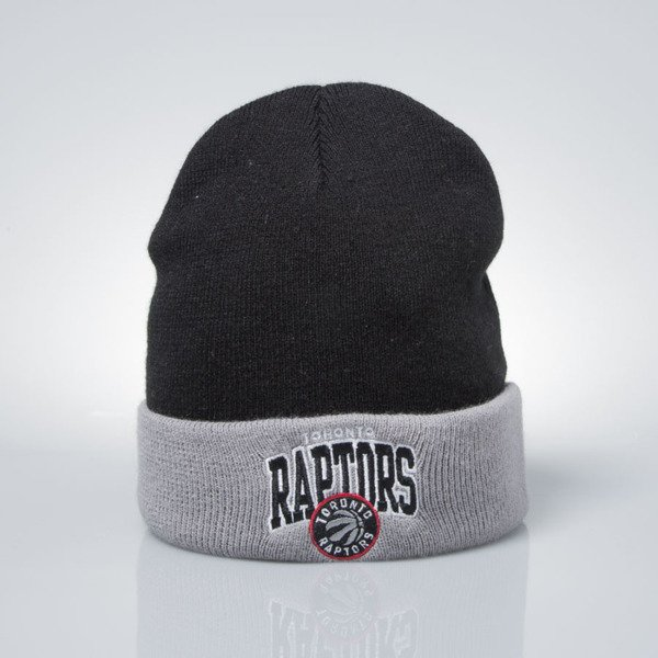 Mitchell & Ness czapka zimowa Toronto Raptors black / grey EU349 ARCHED CUFF KNIT