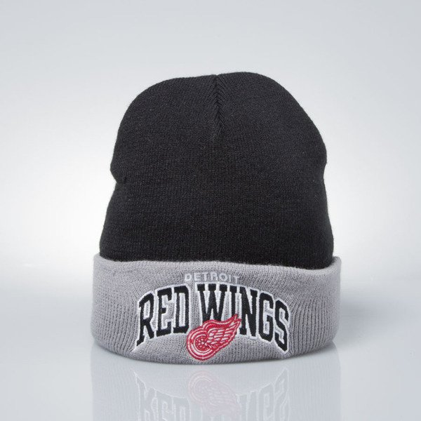 Mitchell & Ness czapka zimowa winter baenie Detroit Red Wings black / grey EU349 ARCHED CUFF KNIT
