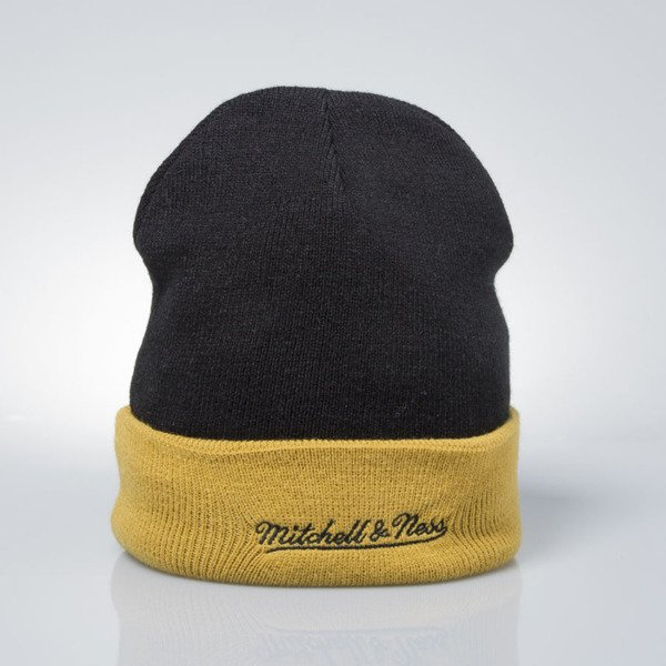 Mitchell & Ness czapka zimowa winter baenie Pittsburgh Penguins black / stone EU349 ARCHED CUFF KNIT