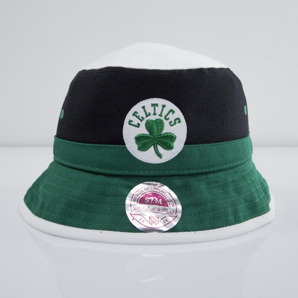 Mitchell & Ness kapelusz bucket hat Boston Celtics black/green Colour Block U128Z