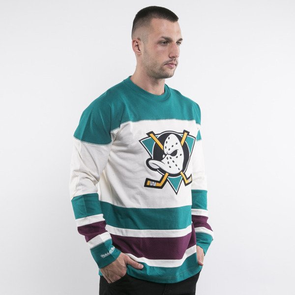 Mitchell & Ness koszulka Anaheim Mighty Ducks Longsleeve off white Changing on the Fly